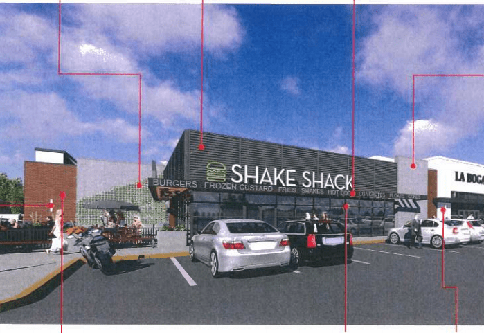 Shake Shack will be located in a portion of what is currently the Sears Automobile Center in Corbin's Corner in West Hartford. Image courtesy of the Town of West Hartford