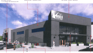 REI will be located in a section of what is now the Sears store in West Hartford's Corbin's Corner. Image from plans filed with the Town of West Hartford