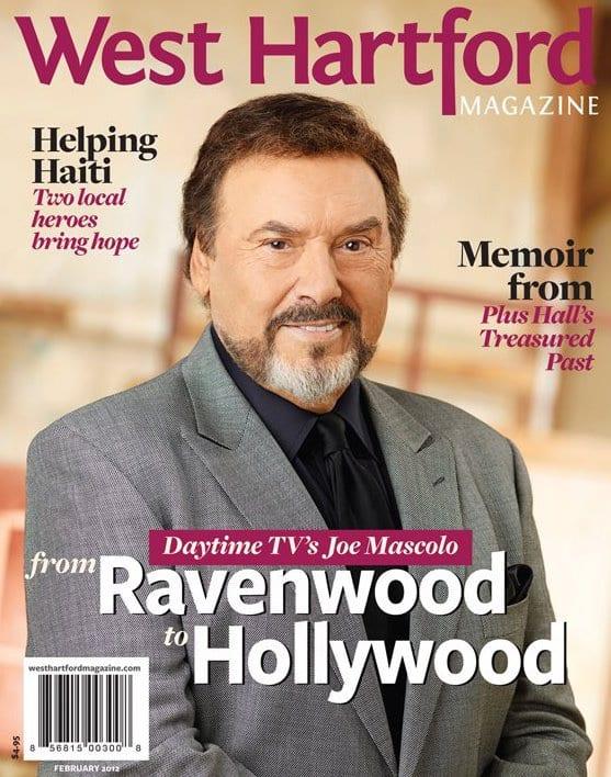 Joseph Mascolo was the cover of West Hartford Magazine in February 2013. Photo courtesy of NBC Television