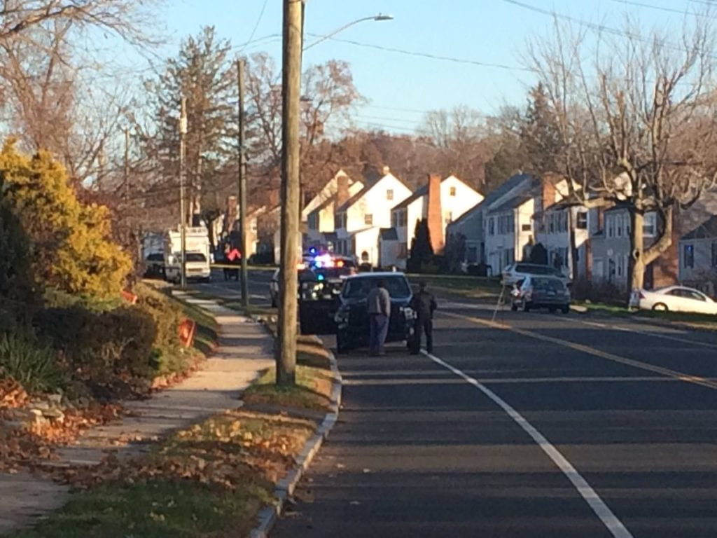 South Main Street is closed between Elmfield and New Britain Avenue while police investigate a serious crash involving a pedestrian. Jennifer Joas NBC Connecticut photo from Twitter