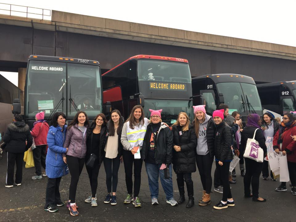 Morley School families at RFK Stadium on the way to the Women's March on Washington. Photo courtesy of Judi Houpert