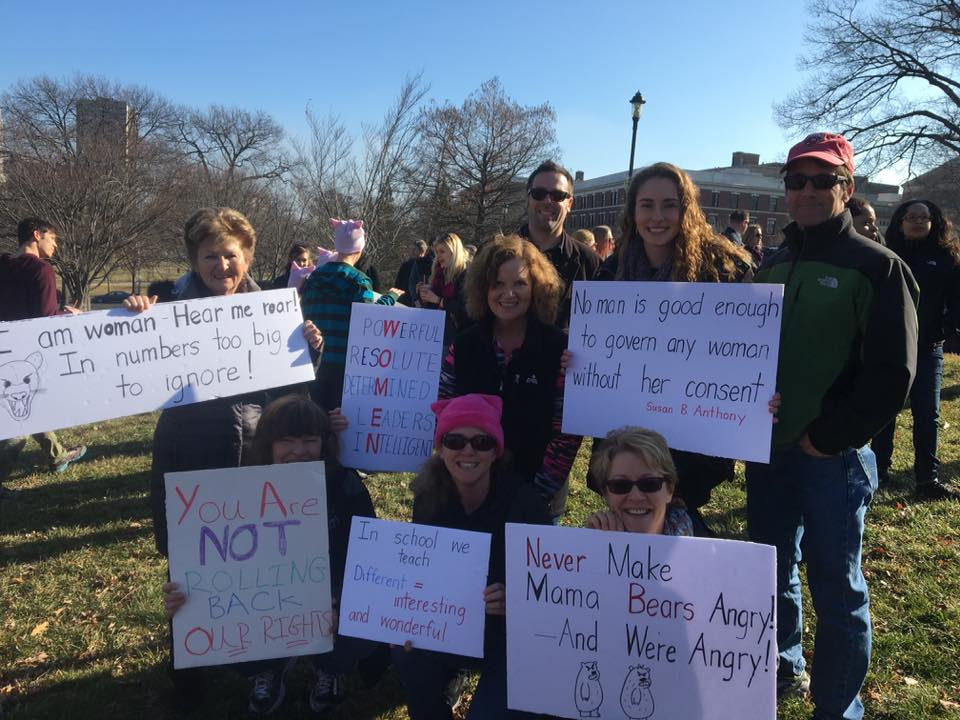 West Hartford contingent. Women's March Connecticut. Photo courtesy of Heather Ferguson-Hull