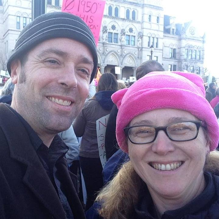 Rich and Heather Ferguson-Hull. Women's March Connecticut. Photo courtesy of Heather Ferguson-Hull
