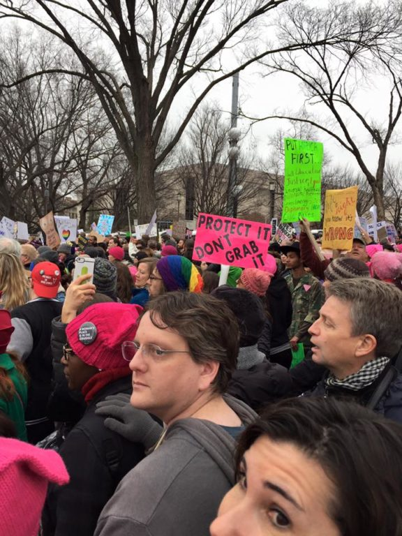 Women's March on Washington. Photo courtesy of Clare Kindall
