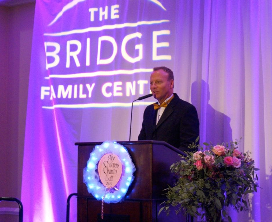 WFSB's Scot Haney served as emcee for the 16th year. Bridge Family Center's 18th Annual Children's Charity Ball. Jan. 21, 2017. Photo credit: Ronni Newton
