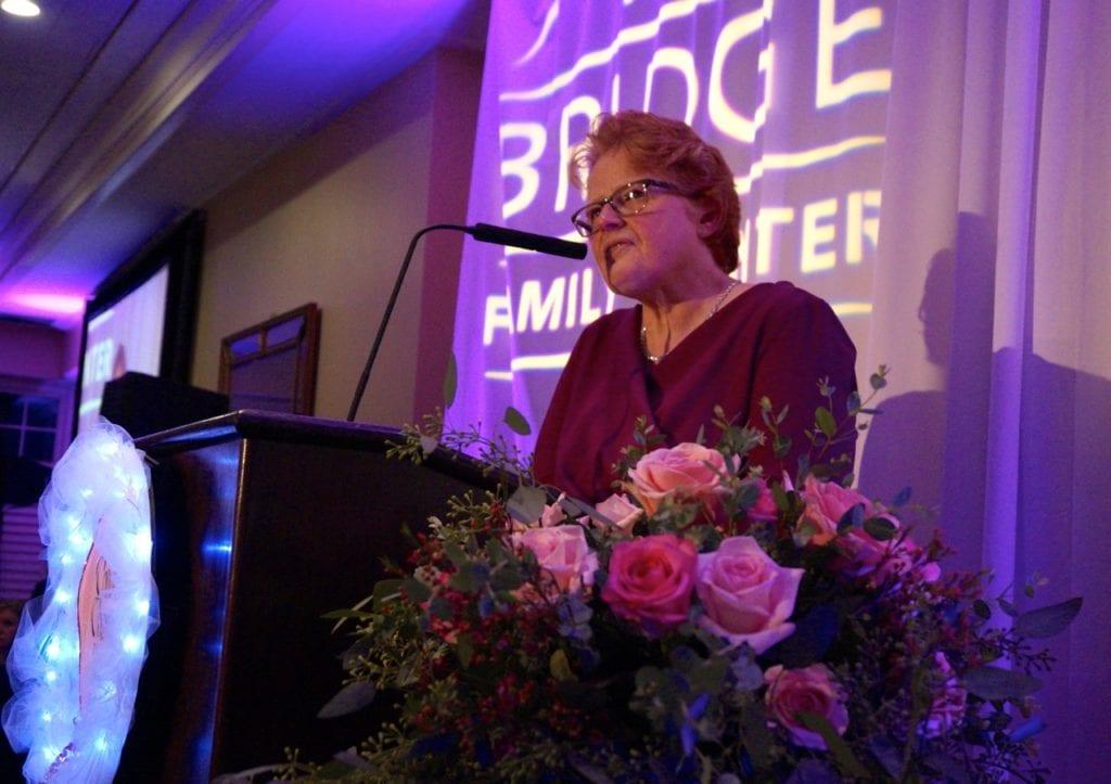 Bridge Executive Director Margaret Hann. Bridge Family Center's 18th Annual Children's Charity Ball. Jan. 21, 2017. Photo credit: Ronni Newton