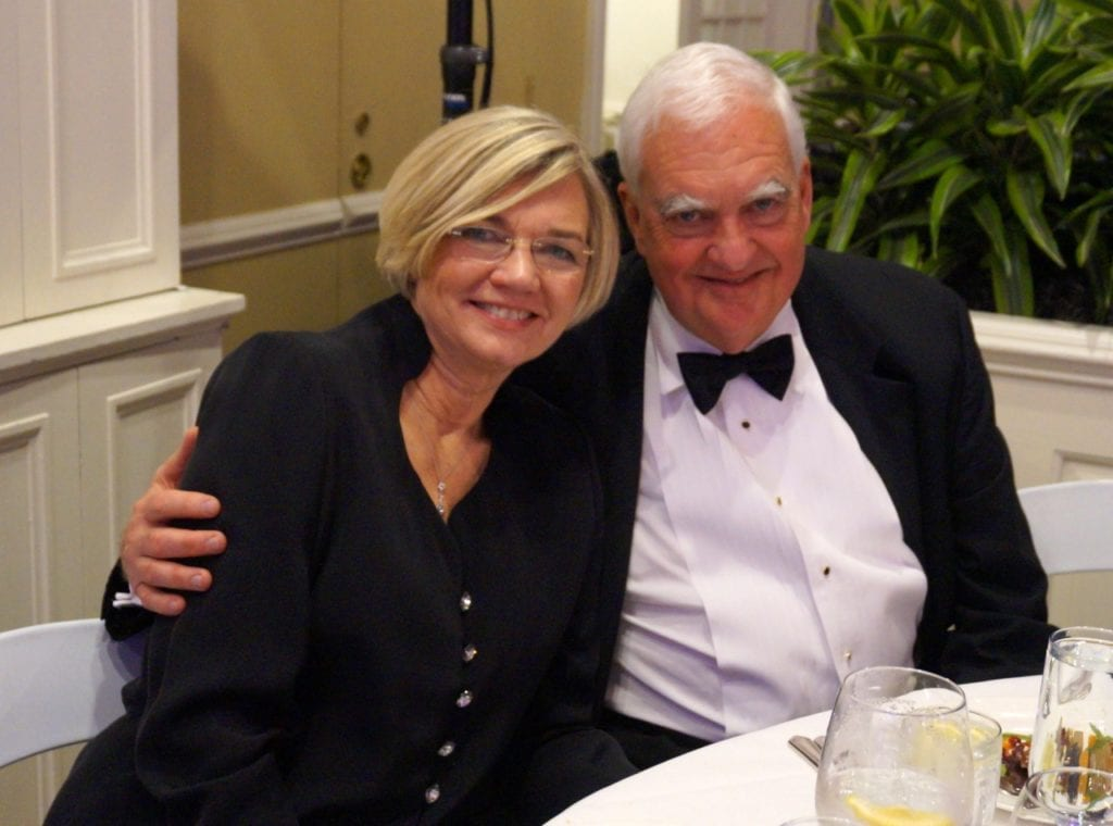 Denise and Tom Hall. Bridge Family Center's 18th Annual Children's Charity Ball. Jan. 21, 2017. Photo credit: Ronni Newton
