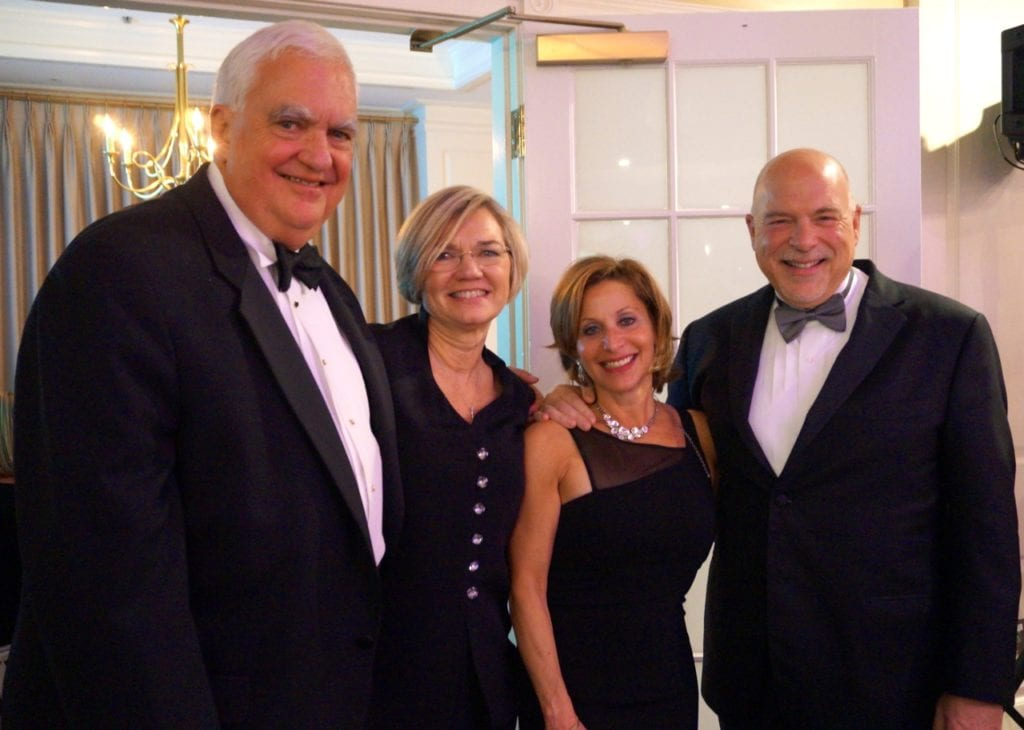 From left: Tom Hall, Denise Hall, Shari Cantor, Michael Cantor. Bridge Family Center's 18th Annual Children's Charity Ball. Jan. 21, 2017. Photo credit: Ronni Newton