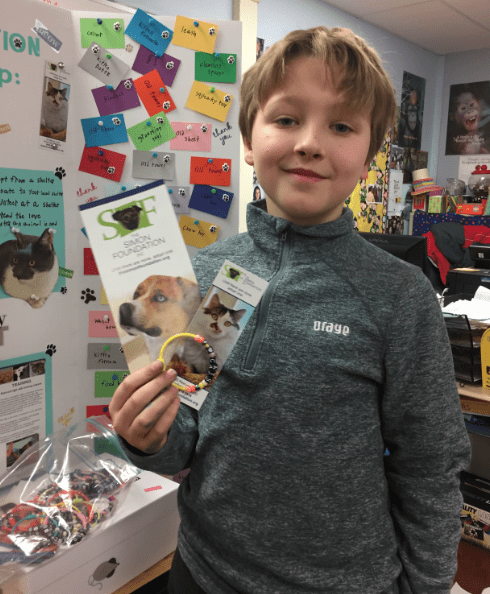 Max Maniatis, a fourth grader at Bugbee School in West Hartford has started a special community outreach project to help shelter animals. Courtesy photo