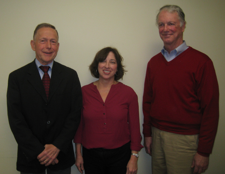 Co-presidents Hank Boulton (l) and Dennis Carrithers (r) flank Executive Director Sheila Diamond. Submitted photo