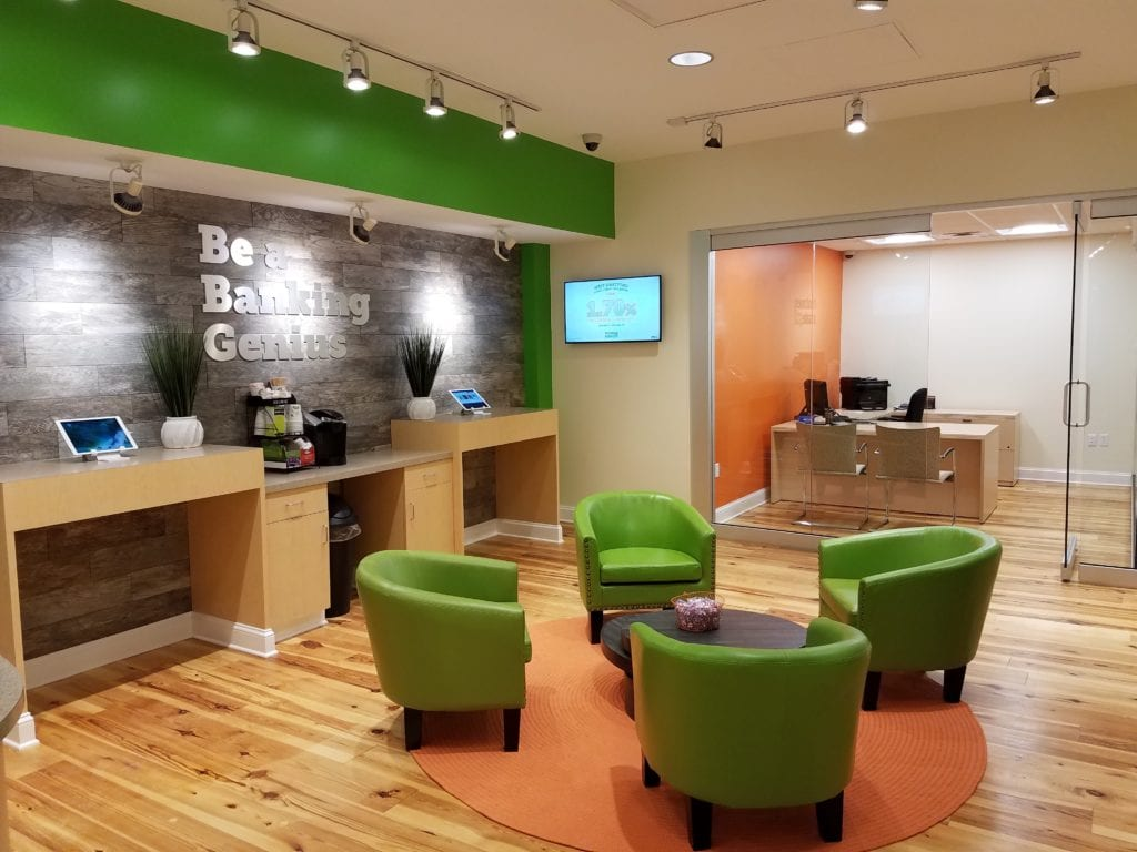 Interior of West Hartford branch of Nutmeg State Financial Credit Union. Submitted photo