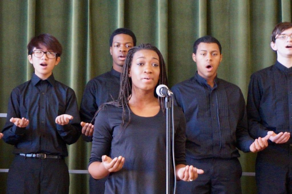 Conard Voices of the World choir sings 'Ukuthula.' Photo credit: Ronni Newton
