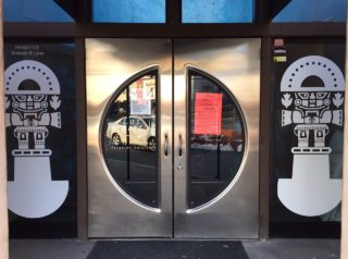 A sign on the door of Los Imperios indicated that the establishment was closed over the weekend by the Department of Labor for workers' compensation violations. Photo credit: Ronni Newton