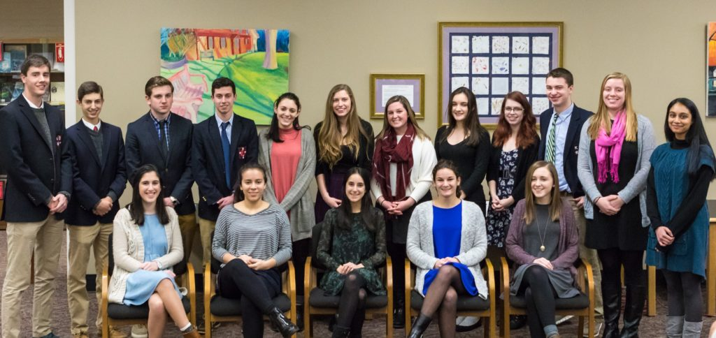 17 Kingswood Oxford students from the class of 2017 were inducted into the Cum Laude Society. Submitted photo