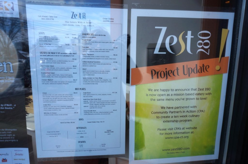 Zest280's reopening includes a new mission – a partnership with Community Partners in Action. Photo credit: Ronni Newton