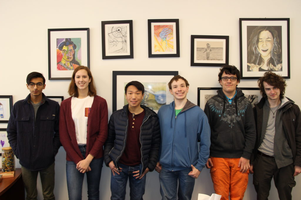 Hall High School National Merit Finalists include (from left): Yusuf Malik, Lydia Henning, Dale Yu, Samuel Bidwell, Andrew Rosenthal-Baxter and Edward McManus. Not pictured: Colman Glagovich, Grace Miller and Cameron Tripp. Submitted photo