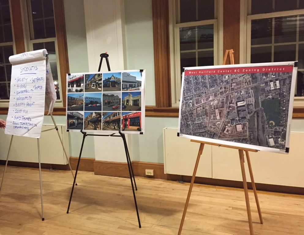 The public was invited to provide input about West Hartford Center at two forums Tuesday night . Photo credit: Ronni Newton