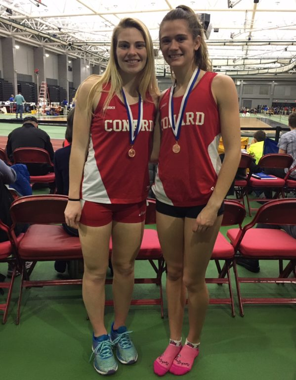Gwen Geisler (left) and Libby McMahon finished sixth and fourth respectively in their State Open races. Photo credit: Linda Geisler