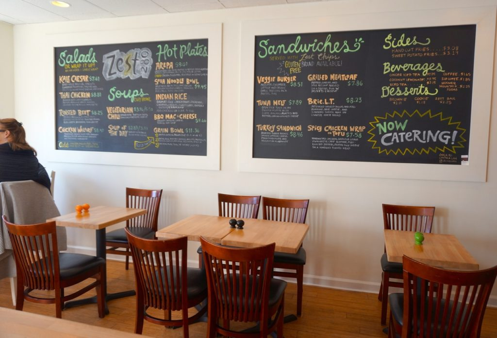 The menu at Zest280 has not changed –but a new mission has been added. Photo credit: Ronni Newton