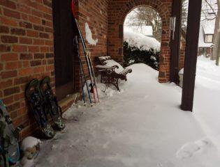 My side porch resembles a ski lodge. Photo credit; Ronni Newton