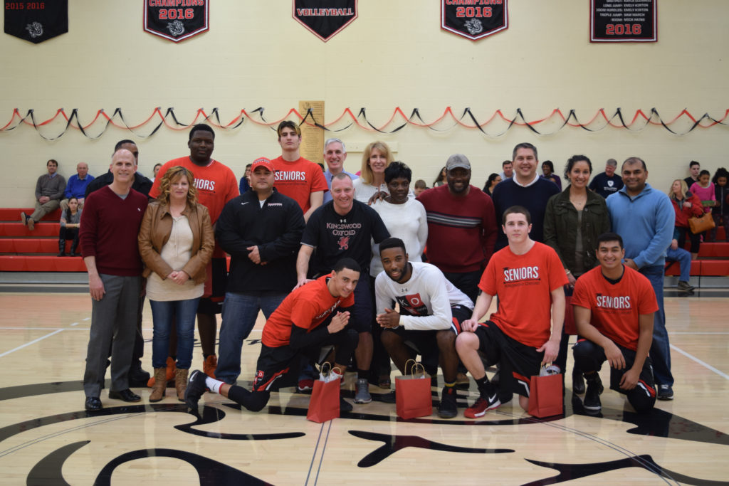 The Kingswood Oxford boys basketball team celebrated Senior Day on Saturday, and then learned it had earned a spot in the NEPSAC Class B Tournament. Submitted photo