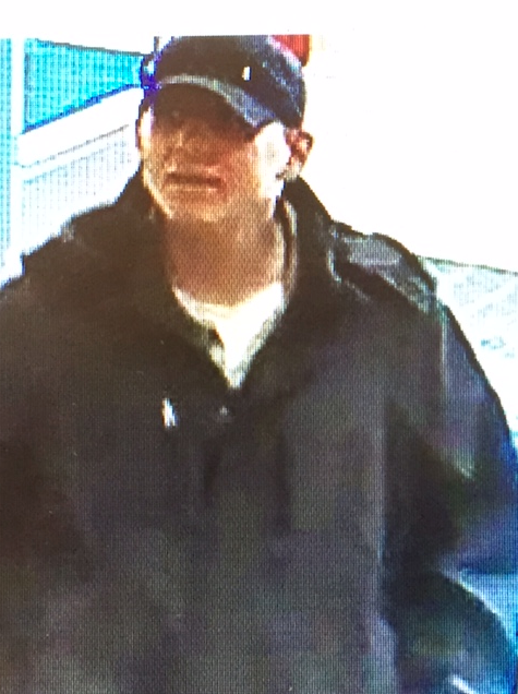 Suspect in March 1, 2017, robbery of Simsbury Bank. Courtesy of West Hartford Police
