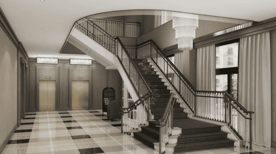 Interior Staircase In Delamar West Hartford Hotel Lobby Image Courtesy Of