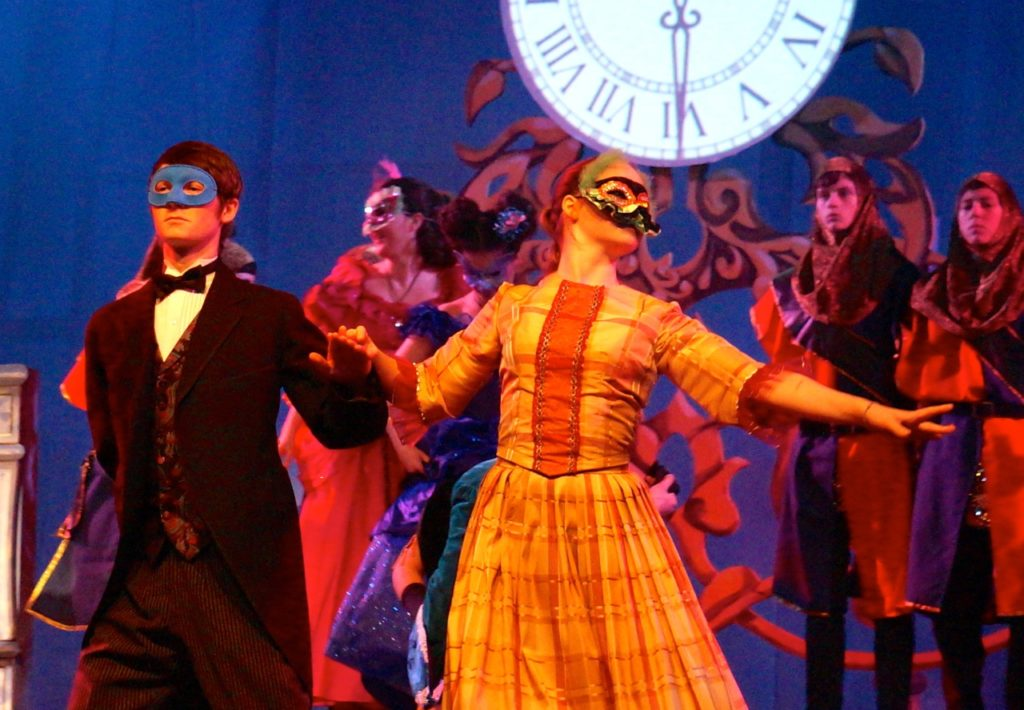 Guests at the masked ball. Conard High School Musical Productions presents 'Cinderella.' Photo credit: Ronni Newton