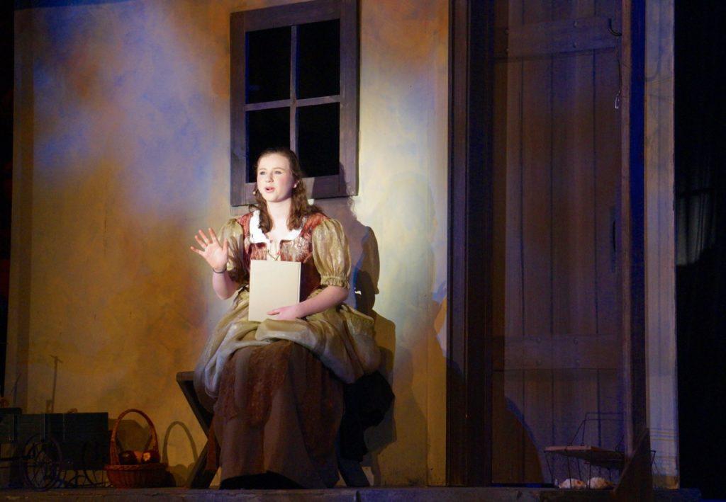 Ella sings 'In My Own Little Corner.' Conard High School Musical Productions presents 'Cinderella.' Photo credit: Ronni Newton