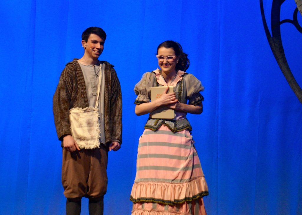 Jean-Michel and his love interest, Gabrielle –the nicer of the step sisters. Conard High School Musical Productions presents 'Cinderella.' Photo credit: Ronni Newton