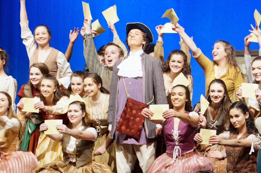 Lord Pinkerton with the townspeople. Conard High School Musical Productions presents 'Cinderella.' Photo credit: Ronni Newton