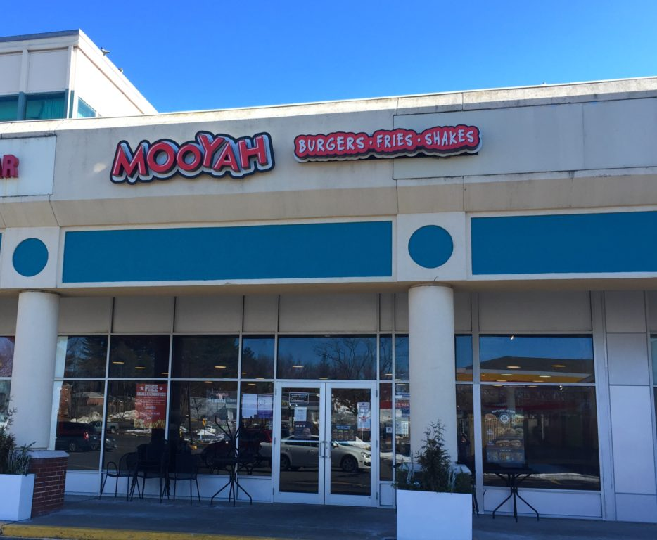 MOOYAH, which was located at 722 North Main St. in West Hartford's Bishops Corner, has closed. Photo credit: Ronni Newton