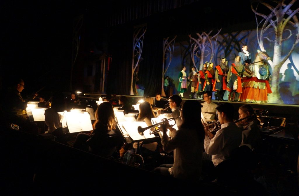 The pit band is comprised entirely of students. Conard High School Musical Productions presents 'Cinderella.' Photo credit: Ronni Newton