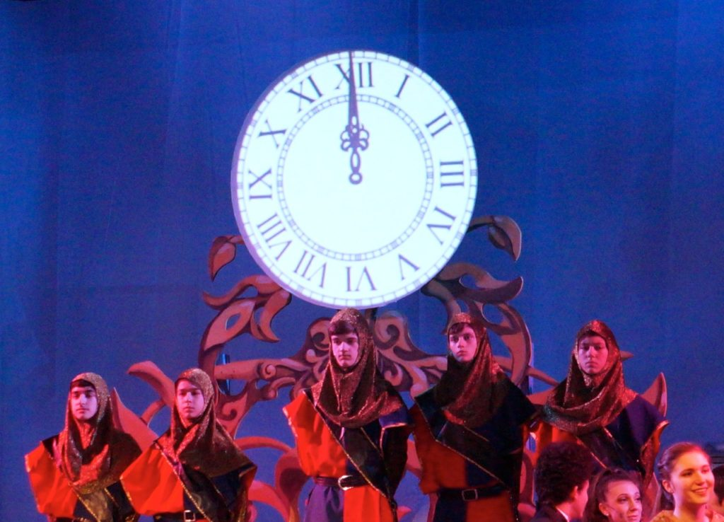The stroke of midnight! Conard High School Musical Productions presents 'Cinderella.' Photo credit: Ronni Newton