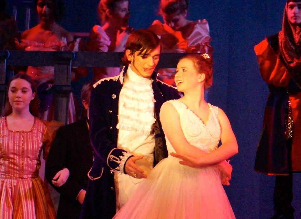 Topher and Ella. Conard High School Musical Productions presents 'Cinderella.' Photo credit: Ronni Newton