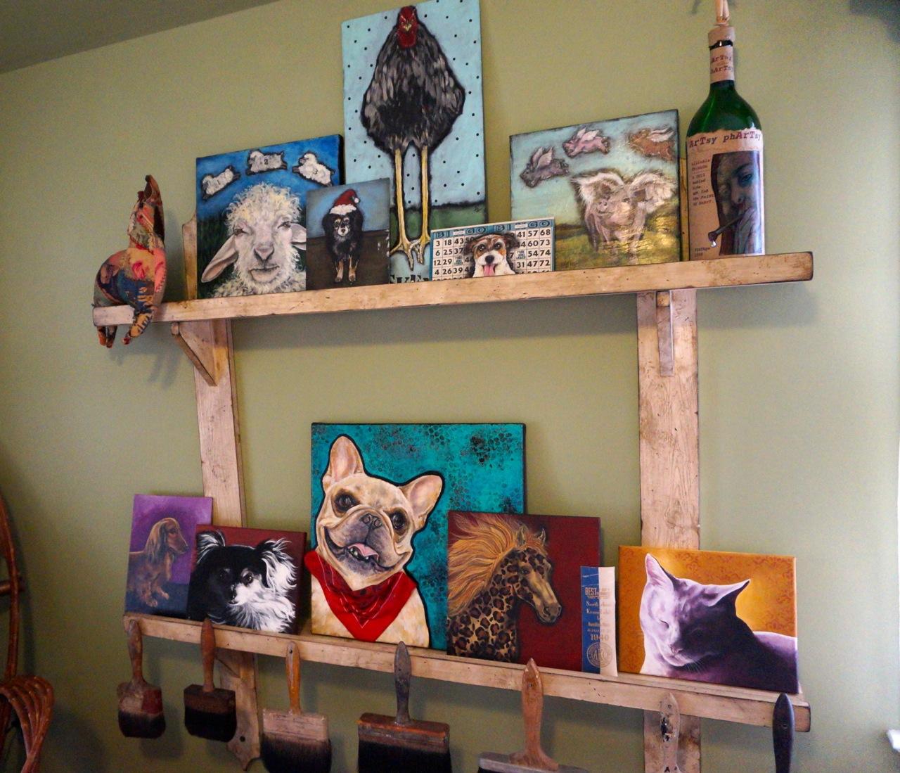Variety Of Paintings In Whitakeru0027s West Hartford Studio