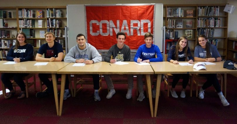 Conard High School Seniors Sign Letters Of Intent For College
