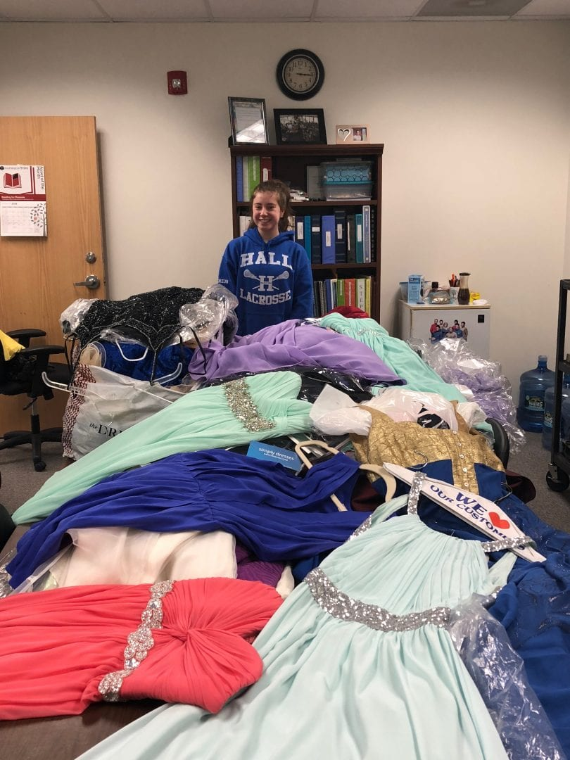 Hall High School Junior Collects Dozens Of Prom Dresses For Donation