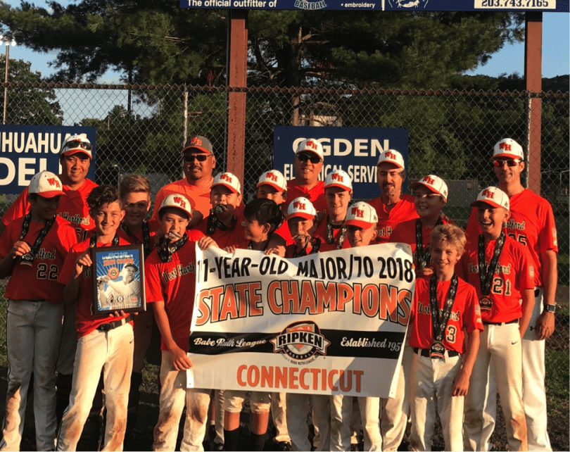 West Hartford Youth Baseball Team Repeats as State Champion