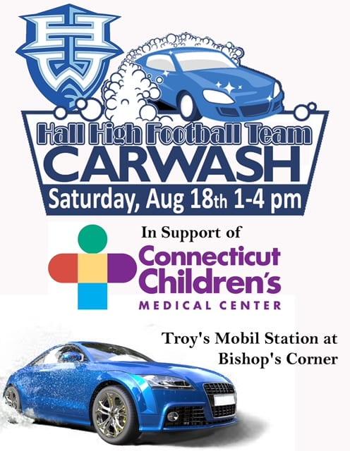 Hall Football Team Holding Car Wash Fundraiser We Ha West