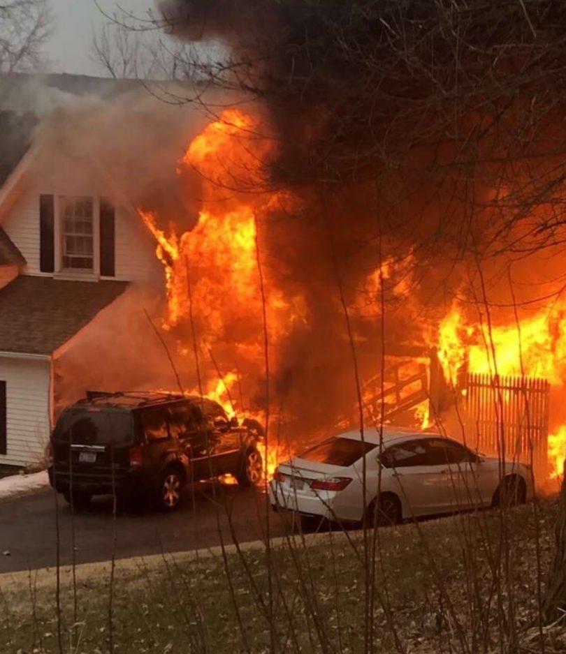 West Hartford Firefighters Battle Major House Fire On