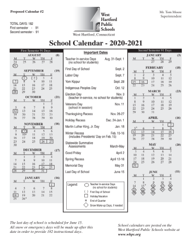 West Hartford Board of Education Adopts Calendar with Later Start