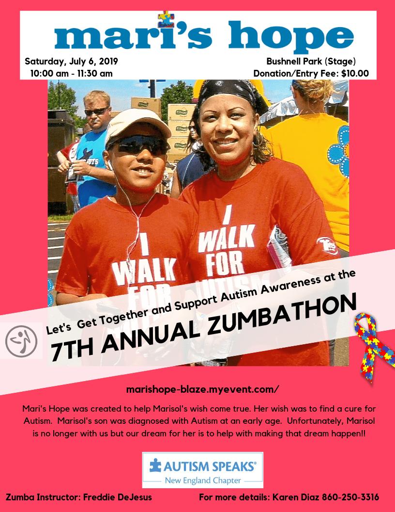 Mari's Hope 7th Annual Zumbathon - A Cure For Autism - We-Ha | West  Hartford News