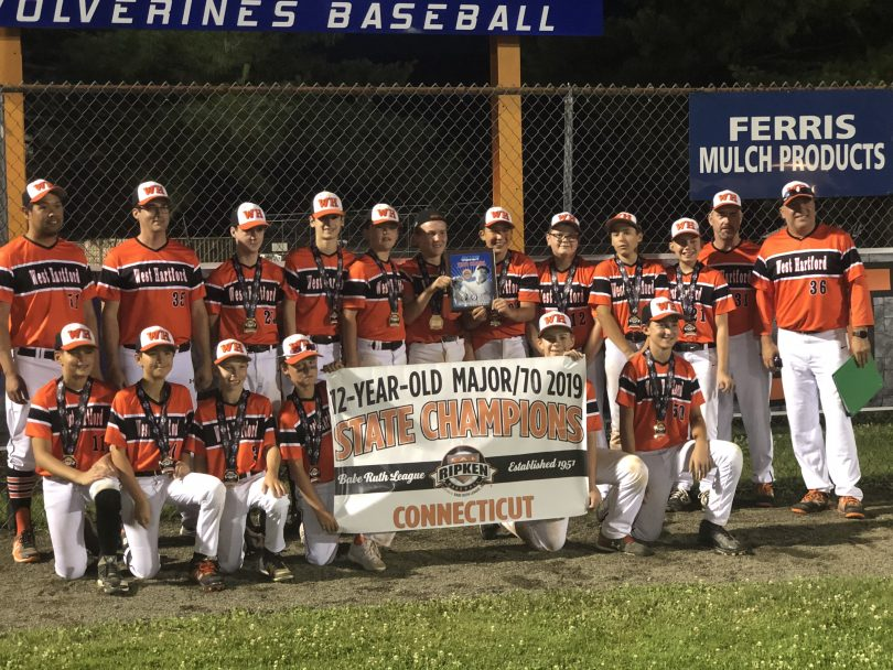 West Hartford Youth Baseball Team Three-Peats as State
