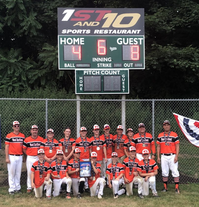 West Hartford Youth Baseball Team Wins Regionals, Heads to