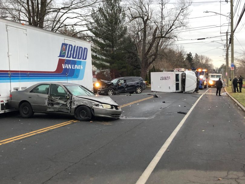 Image result for Armored car crash closes road for hours in West Hartford